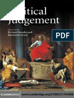 Richard Bourke, Raymond Geuss Political Judgement- Essays for John Dunn 2009