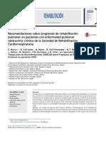 Recomendaciones Sobre Programas de Rehabilitaci n Pulmonar en Pacientes Con Enfermedad Pulmonar Obstructiva Cr Nica de La Sociedad de Rehabilitaci n C