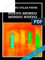 Arturo Uslar Pietri Nuevo Mundo Mundo Nuevo