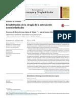 Rehabilitaci n de La Cirug a de La Articulaci n Acromioclavicular 2015 Revista Espa Ola de Artroscopia y Cirug a Articular
