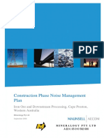 Construction Phase Noise Management Plan