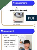 1 1 Units of Measurementa