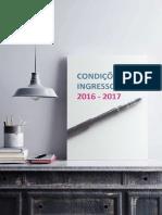 Condiçoes de Ingresso Para o Ano Letivo 2016_17
