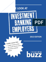 An Inside Look at Investment Banking Employers 2013