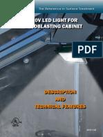 Canablast LED Sandblast Light for Cabinet En