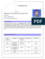 Babul Ahmed(Chemical Engineering)-Cv