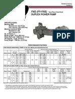 1032 Fy Fxe Duplex Power Pump