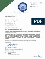 Una Comunicación del comité de transición de Rosselló