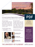 University of Alabama - 9th Annual Southeast Regional ADHD Conference