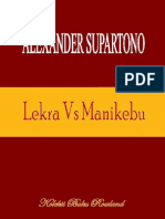 Alexander Supartono. Lekra vs Manikebu