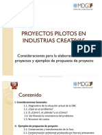 Proyectos Pilotos en Industrias Creativas