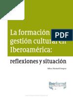 La Formación en Gestión Cultural en Iberoamérica Reflexiones y Situación