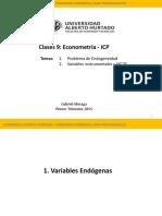 Clase 9- Econometría GM