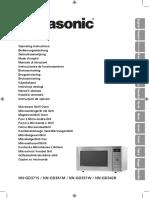 Manual Microondas NN-GD371S