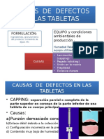 Causas de Defectos en Tabletas