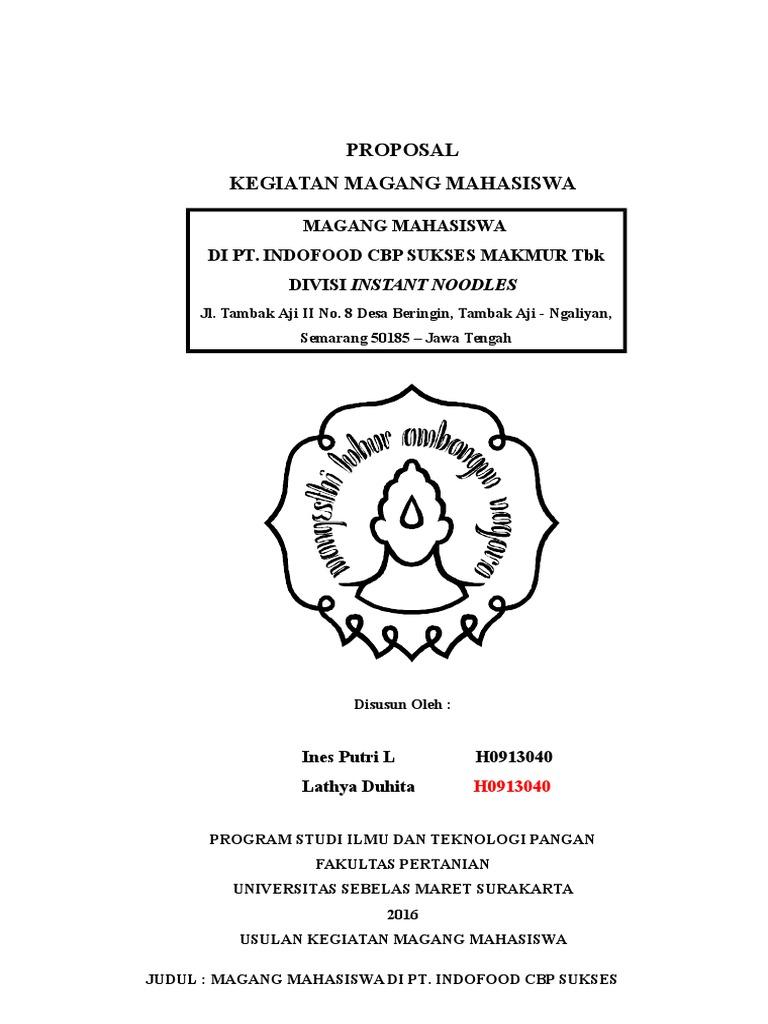 Proposal magang indofood semarang ccuart Image collections