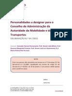 Parecer Nº 84 - Autoridade Da Mobilidade e Dos Transportes