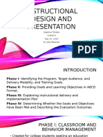 instructional design and presentation
