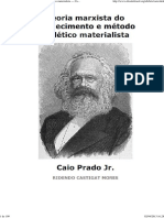 (Teoria Marxista Do Conhecimento e Método Dialético Materialista — Caio Prado Jr.)