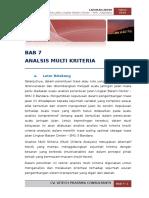 07 BAB 7-Analisis Multi Kriteria