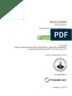 FrameHouse Regulamin Kategoria II Sem VI