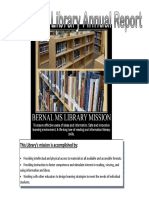 annual library report 2014-15