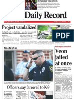 Front page - York Daily Record, June 19, 2010
