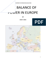 The Balance of Power in Europe