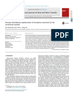 Porosity Distribution Optimization of Insulation Materials by the Variational Method