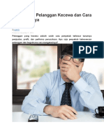 5 Penyebab Pelanggan Kecewa Dan Cara Mengatasinya