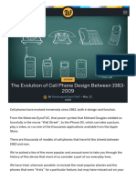 The Evolution of Cell Phone Design Between 1983 20