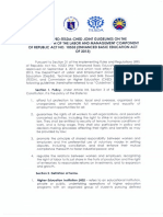 Dole Deped Tesda Ched Joint Guidelines on k to 12