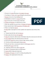 Class 4 Second Term NS Worksheet