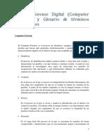 Analisis Forense Digital - Definicion y Glosario