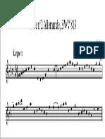 Ditado Melodico Bach 6 Grau
