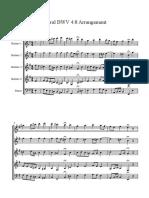 Choral BWV 4.8 Arrangement