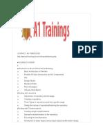 Pentaho Bi online trainings