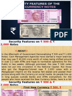 Security Features on New ₹500 & ₹2,000 Currency Notes
