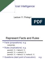 Lecture 11- Prolog-I (AI)