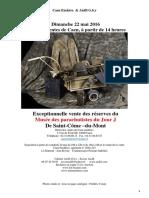 Catalogue de Vente 22 Mai 2016 Musée de St Côme Du Mont