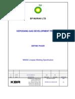 Kepodang BP Muriah - Spec for Welding WMSS Linepipe