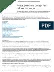 Best Practice Active Directory Design for Managing Windows Networks