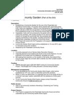 Fact Sheet Community Garden 1706