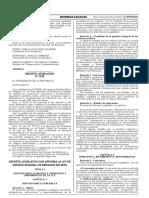 Decreto Legislativo que aprueba la Ley de Gestión Integral de Residuos Sólidos