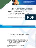 1.3. Fluidos No Newtonianos - C1 - Presentacion Reologia