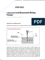 Capacitance Level Measurement Working Principle Instrumentation Tools