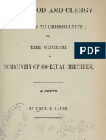 Priesthood and Clergy Unknown to Christianity by or George Bush J B Lippincott Philadelphia 1857
