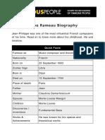 Jean-Philippe Rameau Biography