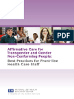 Affirmative Care for Transgender and Gender Non-Conforming People