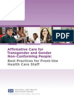 Affirmative Care for Transgender and Gender Non-Conforming People
